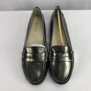 Michael KORS ME15F 9 M LOAFER FLATS Metallic 9M
